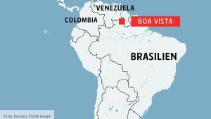 Karta över Sydamerika