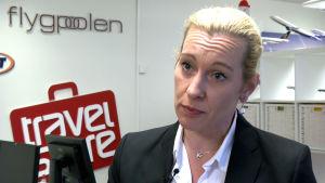 Anna Löfgren på nätresebyrån Flightfinder (Flygpoolen).