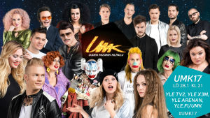 Artisterna för Tävlingen för ny musik, UMK, 2017 är nu klara.