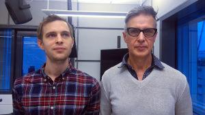 Anton Nylund och Leonid Lopatin.