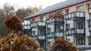 Nyrenoverade bostadshus i Leineberg.