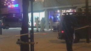 Polisen undersöker mordplats i Imatra.