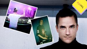 Tapio Hakanen alias DJ Orkidea kolmessa valokuvassa