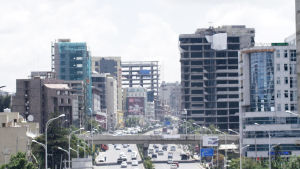 Kaupunkikuvaa Addis Abebasta