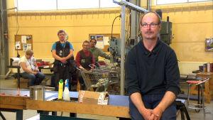 Roland Grankulla med sina arbetskamrater