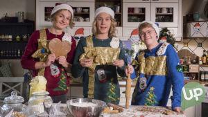 Bongolavan Osku, Lenni ja Roni leipomassa joulupipareita