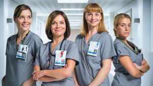 Neljännen kauden yleiskuvassa vasemmalta: Marleena (Tiina Lymi), Lenita (Lena Meriläinen), Johanna (Leena Pöysti) ja Iiris (Iina Kuustonen).
