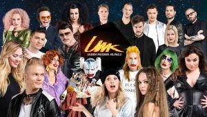 Kuvakollaasi Uuden Musiikin Kilpailu 2017 -kilpailijoista