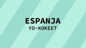 Navigaatiokuva aineen espanja yo-kokeille.