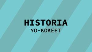 Navigaatiokuva aineen historia yo-kokeille.