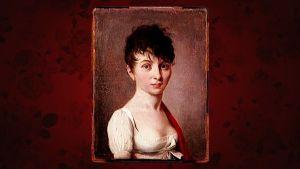 porträtt av kvinna i kort hår, Madame Arnault de Gorse av Louise-Leopold Boilly 1700-tal