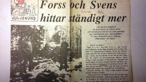 Forss och Svens hittar ständigt mer, säger rubriken i Vbl.