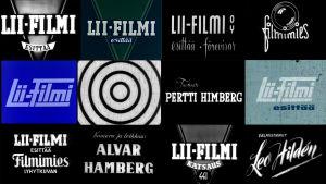 Lii-Filmi Oy:n ja Filmimies OY:n tunnuksia.