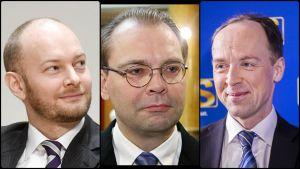 Sampto Terho, Jussi Niinistö och Jussi Halla-aho