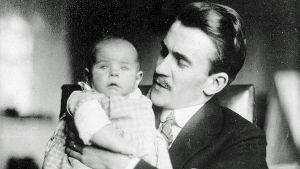 Tove Jansson med sin pappa Viktor