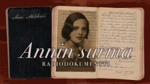 Anni Ahlstömin kuva ja käsinkirjoitettu vihko
