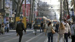 Kaupunkikuvaa Karlsruhessa