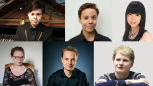 Tampereen pianokilpailun finaalien suorissa lähetyksissä torstaina ja perjantaina 4.-5.5.2017 soittavat Tarmo Peltokoski, Anton Mejias, Ayane Matsuura, Fanny Söderström, Ossi Tanner ja Hannu Alasaarela.