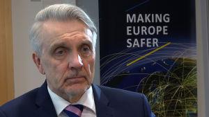 Europolin vakavan ja järjestäytyneen rikollisuuden torjuntakeskuksen johtaja Jari Liukku.
