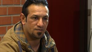 Den irakiske asylsökande Malik på Evitskog mottagningscentral.