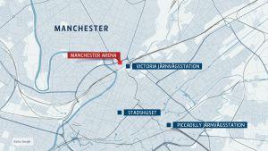 En karta på Manchester.