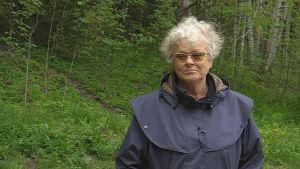 Kerstin Andersson, deltagare i Sibbo kommuns skogsterapi