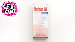 ett paket med skabb medicin mot en vit bakgrund