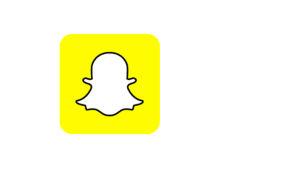Snapchatin sovelluksen logo.