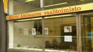 Martti Ahtisaaren vaalitoimiston julkisivu