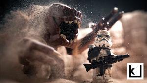 Vesa Lehtimäen tekemä kuva Star Wars Legoilla