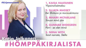 Kirjabloggari Katja Jalkanen ja #hömppäkirjasuositukset