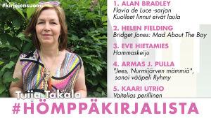 Kirjabloggari Tuija Takala ja hänen #hömppäkirjalistansa