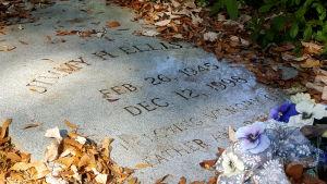 Den amerikanska artisten Jimmy Ellis gravsten.