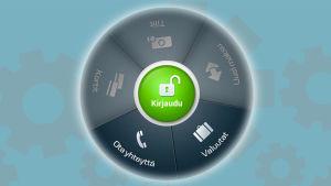 Danske Bankin mobiilisovellukset aloitusnäyttö. Mm. Ota yhteyttä -toiminto käytössä ilman kirjautumista.