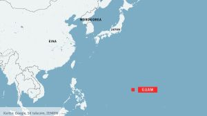karta där Guam är utmärkt.