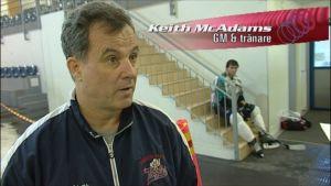 Varkaus Eagles tränare Keith McAdams.