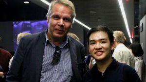 Pianotaiteilija Teppo Koivisto ja pianisti Anthony Hartono