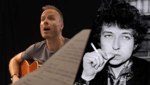 Mikko Kekäläinen ja Bob Dylan yhdistettyna samaan kuvaan.