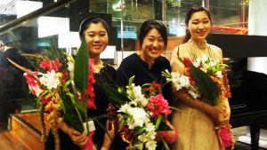 Etelä-Korean finalistipianistit Maj Lindissä 2017