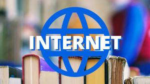 Kirjoja ja teksti: internet
