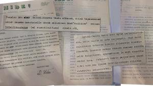 Nide Oy:n kirjeitä Eric von Schantzille romaanista Irene.