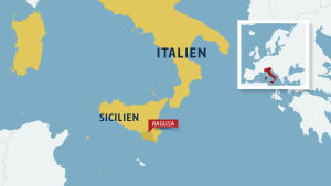Ragusa ligger i södra Sicilien.
