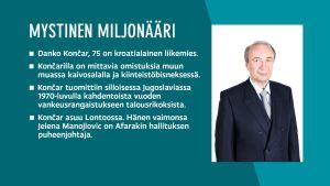 Tietoja Afarakin suuromistaja Danko Koncarista ja hänen taustoistaan.