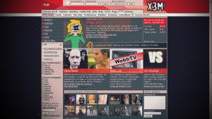 En gammal bild av communityns förstasida med den tecknade eva-figuren och en lista på inloggade medlemmar.