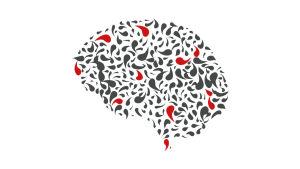 Graafinen kuva aivoista.