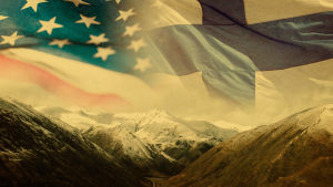 Alaska, Yhdysvaltain ja Suomen liput