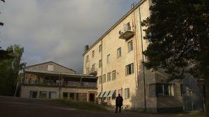 flyktingförläggningen i Pansio exteriör hösten 2015