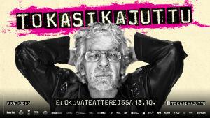 Filmplansch för filmen Tokasikajuttu med Pertti Kurikan Nimipäivät
