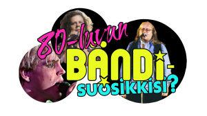 Kokoomakuva Puoli seitsemän ohjelman äänestykseen, jossa etsittiin 80-luvun bändisuosikkia