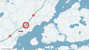 karta över leksvall